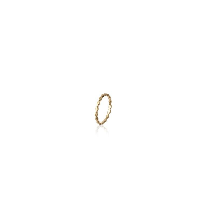Inel ondulat placat cu aur