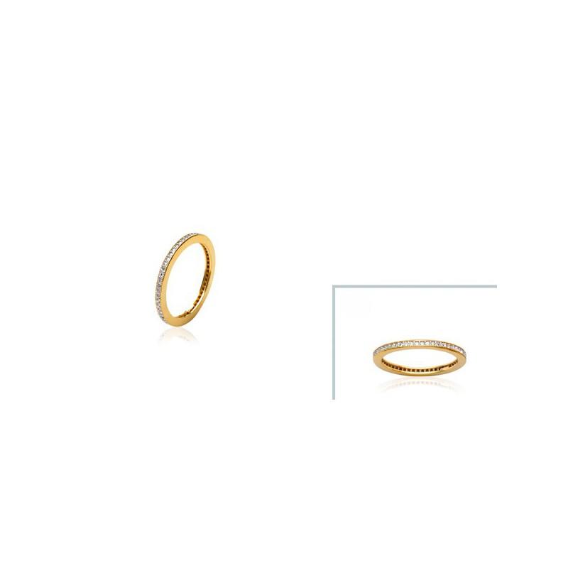 Inel placat cu aur + zirconiu