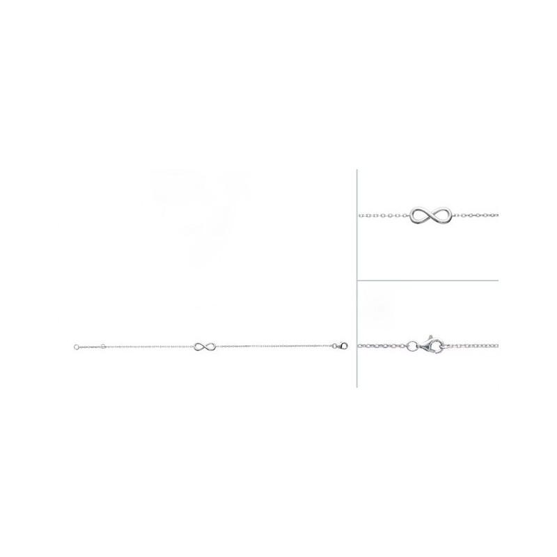 Bratara lant + semnul infinitului din argint