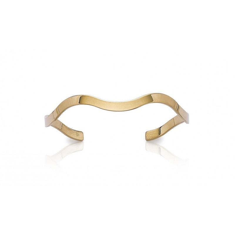 Bratara fixa ondulata placata cu aur
