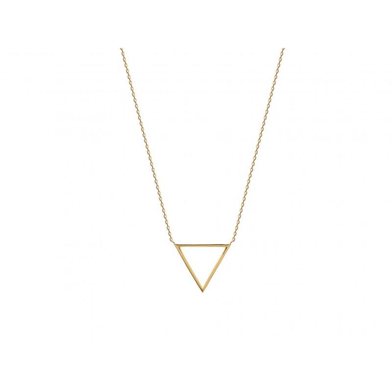 Colier triunghi placat cu aur