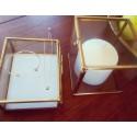 Bratara fixa 2 cuburi placata cu aur