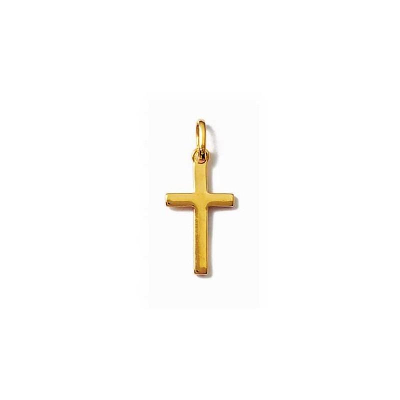 Pandantiv cruce placata cu aur