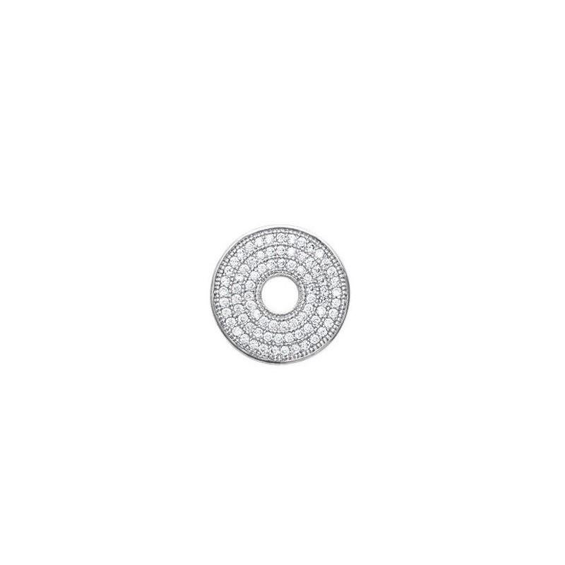 Pandantiv donut din argint + zirconiu
