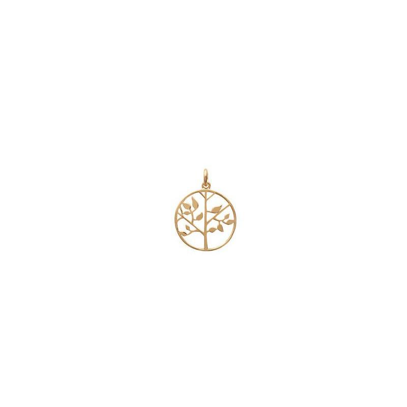 Pandantiv Tree of Life placat cu aur