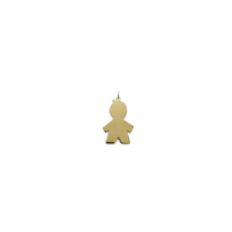 Pandantiv baietel mare placat cu aur