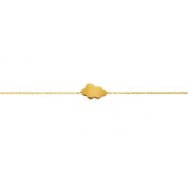 Bratara lant + norisor placata cu aur
