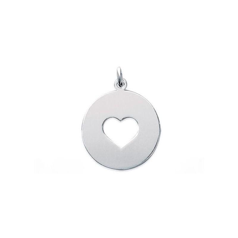 Pandantiv banut inima din argint