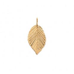 Pandantiv frunza placat cu aur