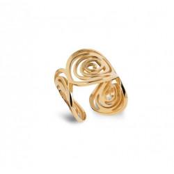 Inel spirala placat cu aur